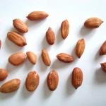 die einzelnen geschälten Erdnüsse
